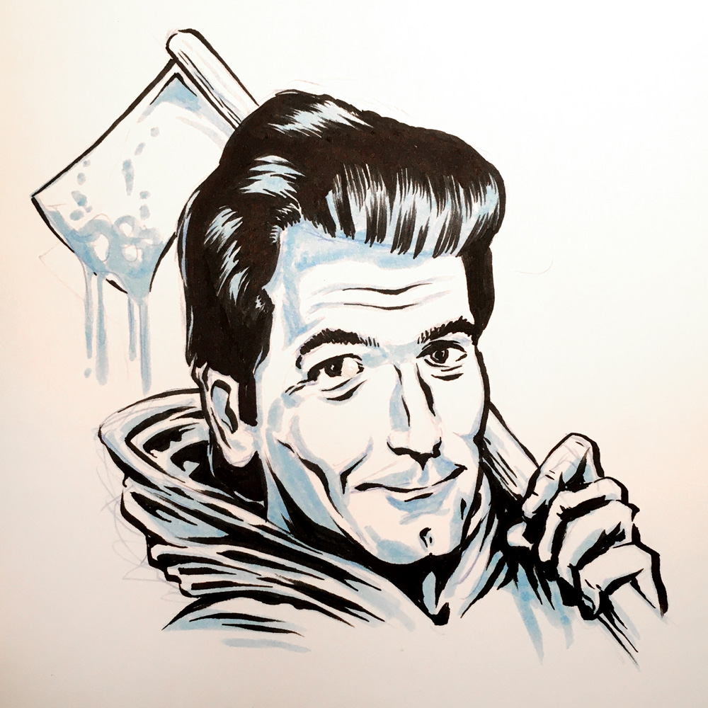 Huey Lewis by Jason Stout