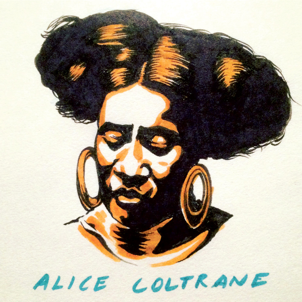 Alice Coltrane by Jason Stout