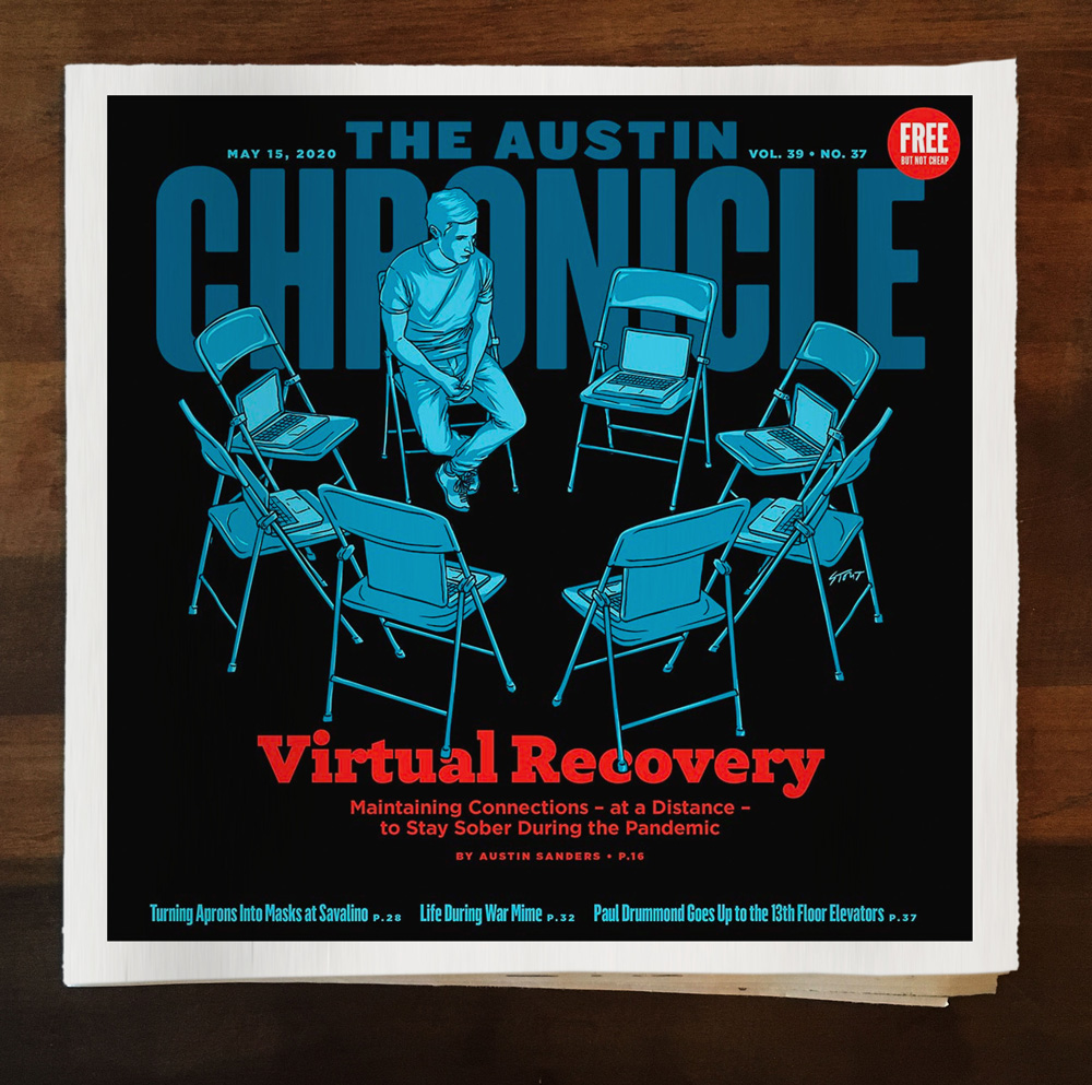 Austin Chronicle Virtual Recovery cover by Jason Stout