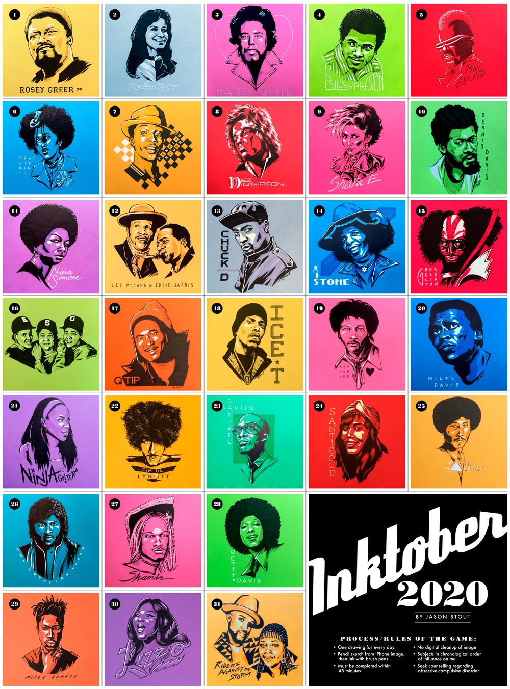 Inktober 2020 by Jason Stout